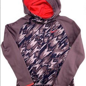 Nike girls sweater hoodie purple size L